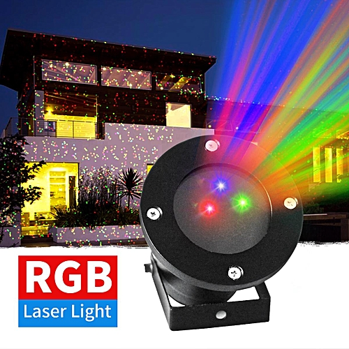 Outdoor RGB Dynamic Laser Projector Light Xmas Lawn Garden Party Stage Lighting US