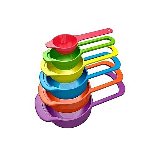 Measuring Cup And Spoon Set - Multicolour - 6 Pieces