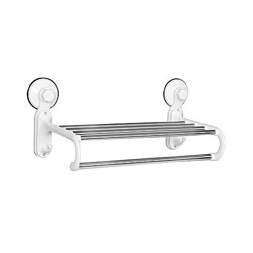 Bathroom Towel Hanger With Rail Shelf Rack