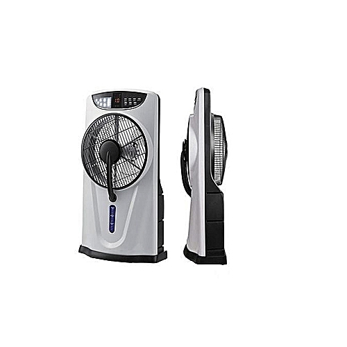 Rechargeable Box Mist Fan With Wheel And Remote