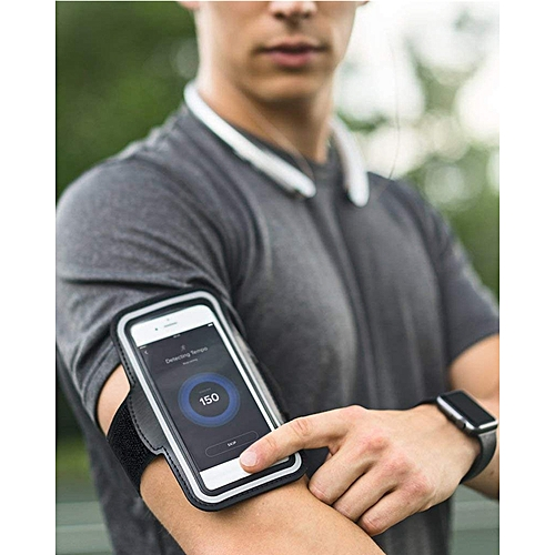 Water Resistant Cell Phone Armband For 5.0 To 6.0 Inch Phone, Note With Adjustable Elastic Velcro Band & Key Holder For Running, Walking