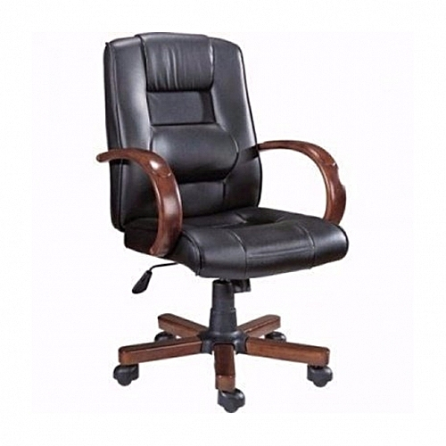 Woodmat Executive Leather Manager Swivel Office Chair