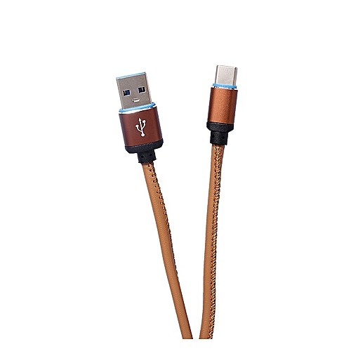 Usb Data Cable Hi-Tensile Charge Type C - F8118 Brown
