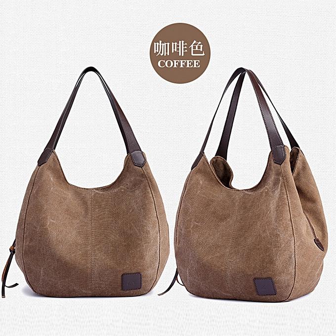 7dc4aaa21c Women s Canvas Handbags Vintage High Quality Female Hobos Single Shoulder  Bags