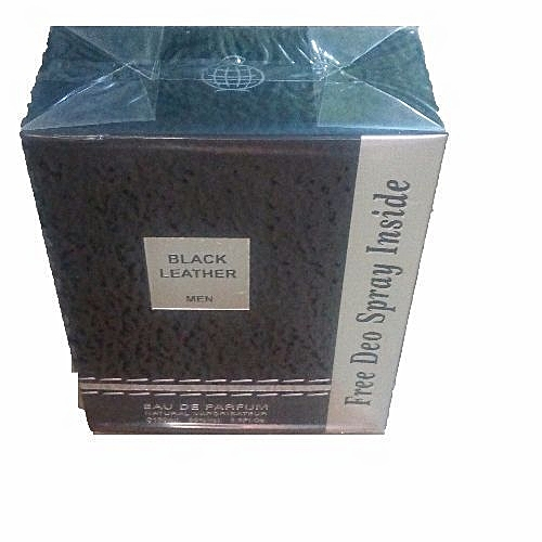 Black Leather Perfume For Men + Free Deo Spray Inside-{100ml}