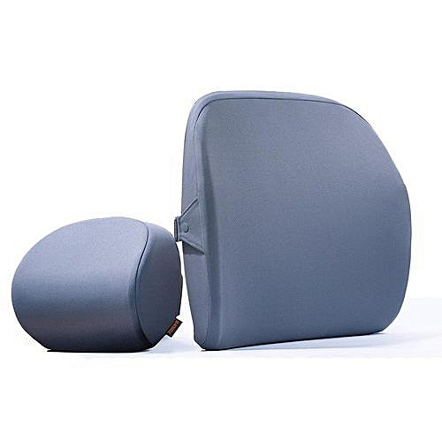 Xiaomi Roidmi Memory Foam Pillow Lumbar Cushion Set Neck Back Support Spine Prot Grey Neck Pillow