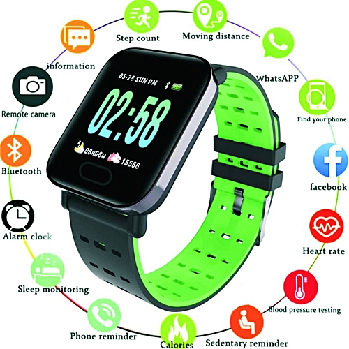 Color Screen Smart Watch (With Fitness Tracker Watch Step Counter Activity Monitor Smartwatch For IOS Android)