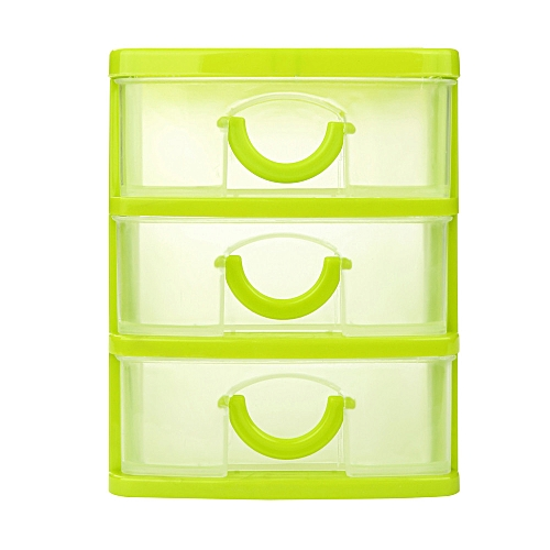 Braveayong Durable Plastic Mini Desktop Drawer Sundries Case Small Objects -Green
