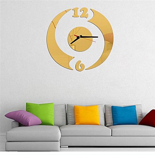 Lodaon Modern Design DIY Wall Clock Home Decor Mirror Sticker GD