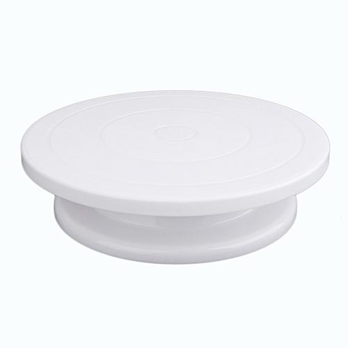 Cake Decoration Turntable Practical Table Rotating Disc Non-Slip Baking Tool White