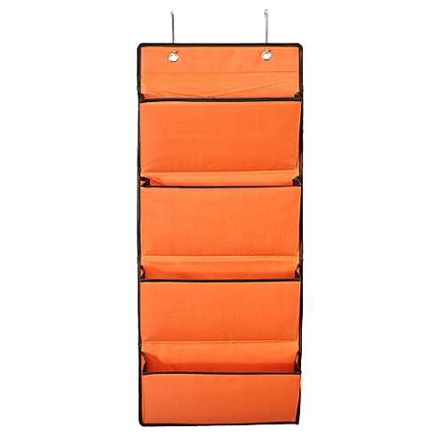 4 Tier Oxford 600D Wall Door Hanging Organiser Storage Rack Bag Clothes Wardobe Orange