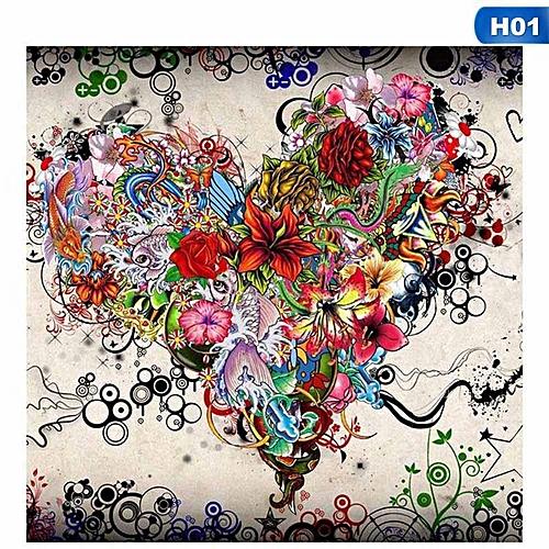 Eleganya 25*25cm Fashion DIY Craft Cross Stitch Heart Diamond Painting Wall D茅cor H01