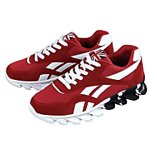 Men's Casual Shoes Antiskid Running Shoes Sports Sneakers Fashion Shoes Red 44 for sale  Nigeria