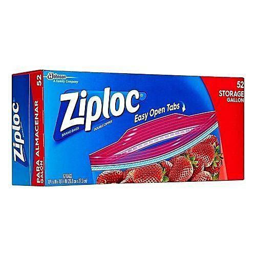 Ziploc Double Zipper 52 Storage Gallon Bags