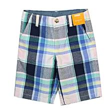 7868e3de494 Plaid Cotton Shorts For Boys - Multicolor