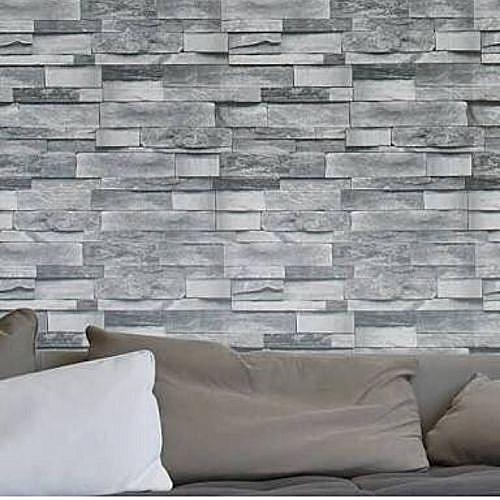 Generic 3d Wallpaper - WhiteRosy 3d Effect Wallpaper Brick Design- Grey