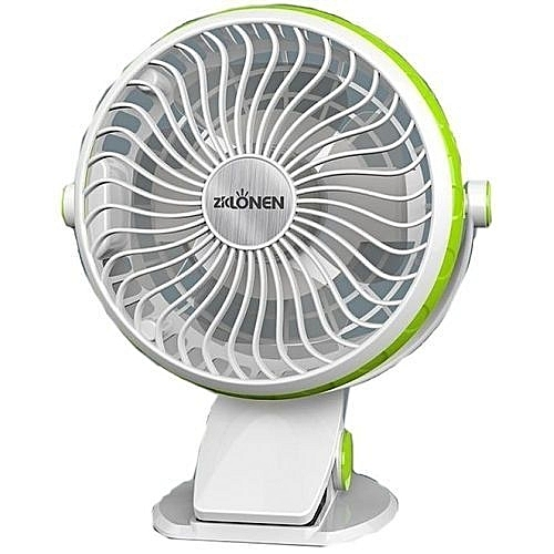 4'' High Speed Rechargable Clip Fan With USB Slot