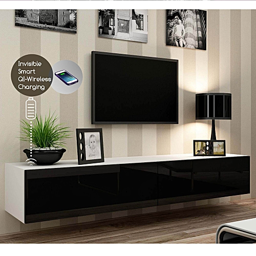Smart Wireless Fast Charging Wall Mount TV Stand 2.0
