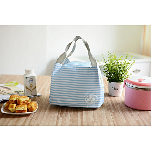 Equivalentt Portable Lunch Bag Tote Picnic Insulated Cooler Zipper Organizer LunchBox BU