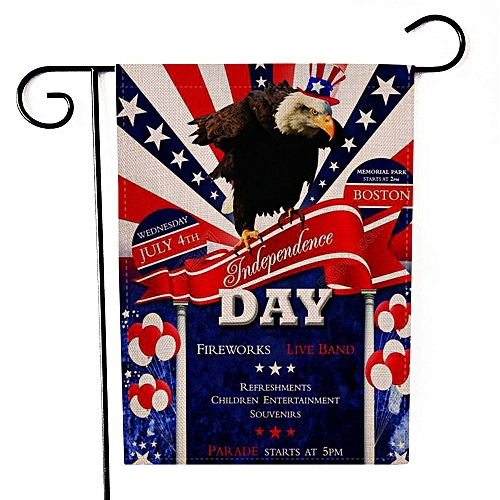 Correponde Happy Independence Day Garden Flag Indoor Outdoor Home Decor Printing Flag
