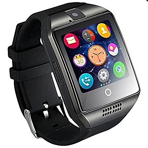 Hot Sale Bluetooth Smart Watch Q18 With Camera Facebook Whatsapp Sync SMS MP3 Smart Watch Support SIM TF Card For IOS Android Phone(Black) ?-black
