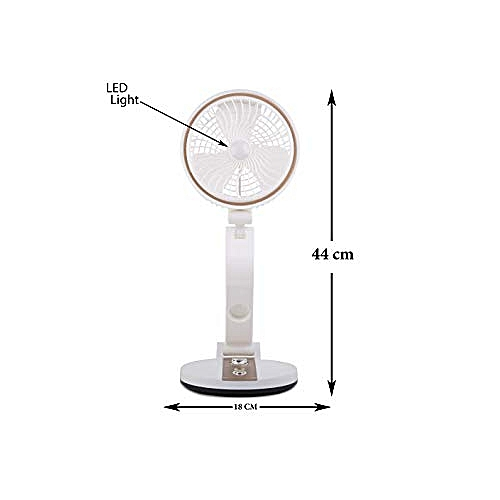 Foldable Rechargeable Table Fan With Led Light