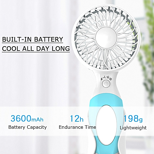 Portable Rechargeable Fan Air Cooler Mini Operated Hand Held USB BatteryCute Fan