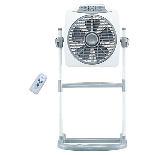 "12""Box Fan BFS-1263R-white, With 80 Degree Oscillation"