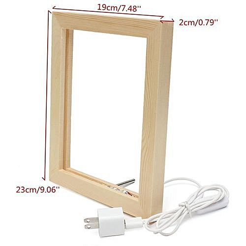 Frame Lamp Material : Wooden + Acrylic Plate Color : Log Color