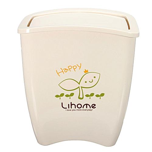 4pcs New Mini Trash Bin WasteBasket Garbage Dustbin Storage Box Desktop Office Home White