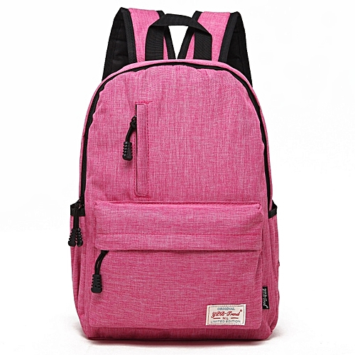 Universal Multi-Function Canvas Laptop Computer Shoulders Bag Leisurely Backpack Students Bag, Small Size: 37x26x12cm, For 13.3 Inch And Belowbook, Samsung, Lenovo, Sony, DELL Alienware, CHUWI, ASUS, HP(Magenta)