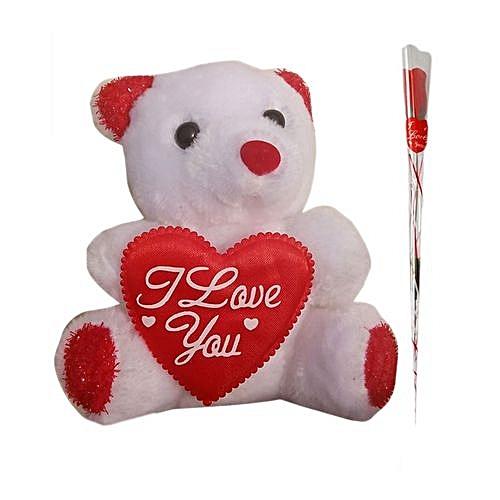 Teddy Bear With Rose-ss