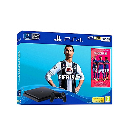 PS4 500GB + FIFA 19 Bundle - Jet Black