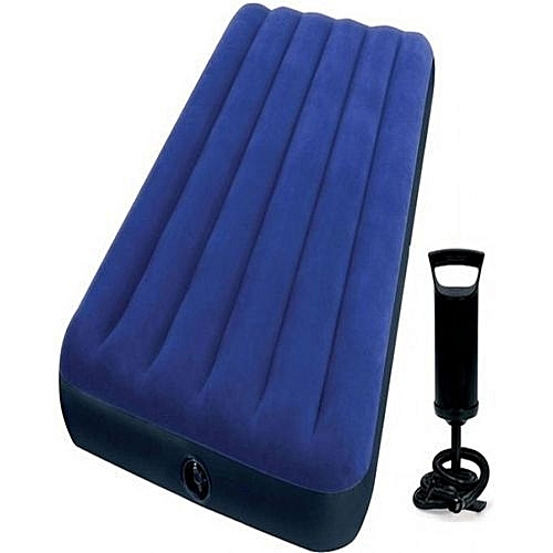 Single Size Inflatable Air Bed Mattress With Pump