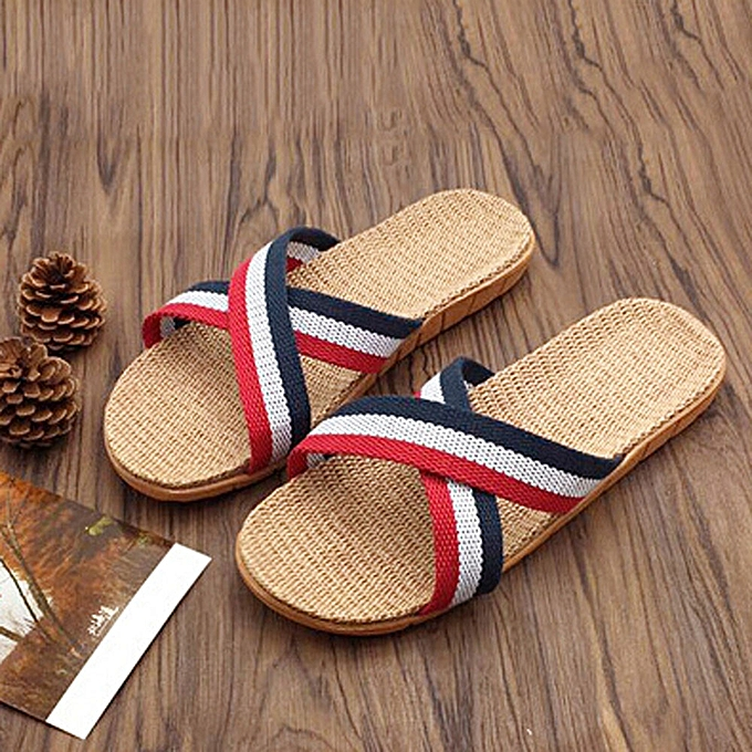 93bcaffaa Blicool Shop Shoes Women Men Anti-slip Linen Home Indoor Summer Open Toe Flats  Shoes