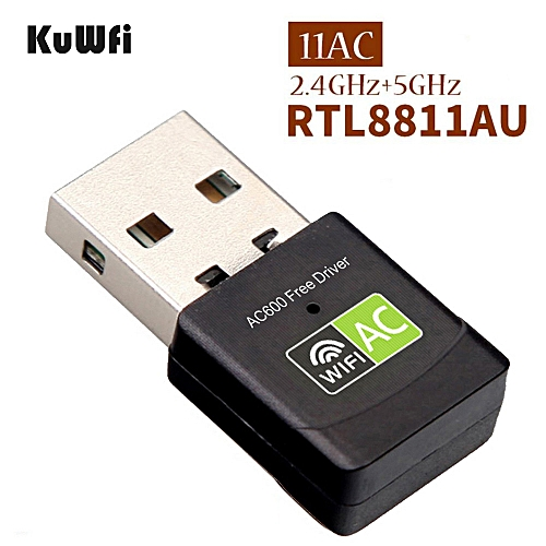 600Mbps Free Driver Wifi Adapter Dual Band USB 2.0 Wifi Receiver Network Card