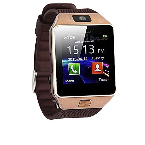 Single SIM Card Smart Phone Watch - Rose Gold