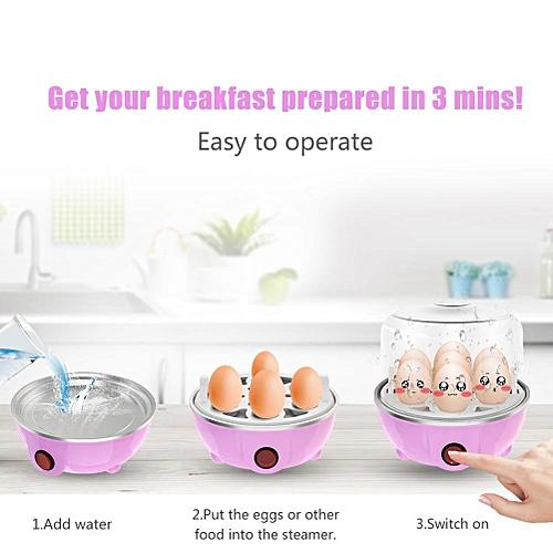 Multifunctional Ttriple-Layer Electric Eggs Boiler Cooker Steamer Chinese Plug 220V Pink