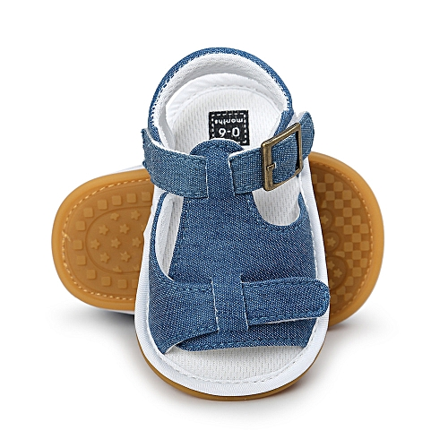 06748419ef549 YiQu Baby Boys Sandals Shoe Casual Shoes Sneaker Anti-slip Soft Sole Toddler  - Blue