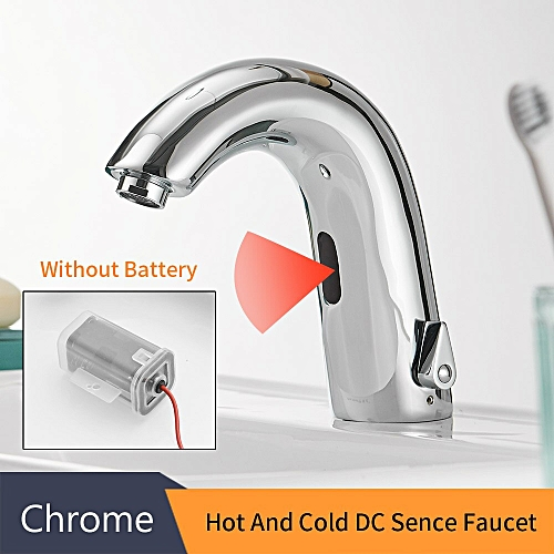 Basin Faucets Sensor Automatic Infrared Bathroom Sink Faucet Touchless Inductive Electric Deck Toilet Wash Mixer Water Tap 8906