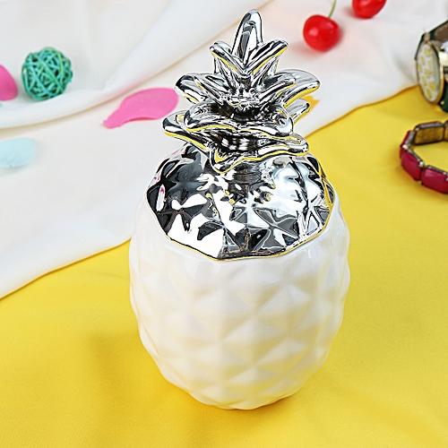 Ceramic Chic Pineapple Tea Coffee Sugar Jars Storage Canisters Home Decor - L
