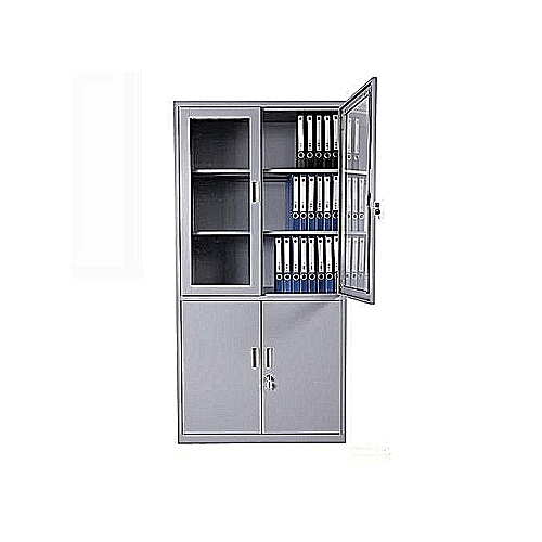 Standard Modern Steel Filling Cabinet With Swing Half Glass(LAGOS ONLY)