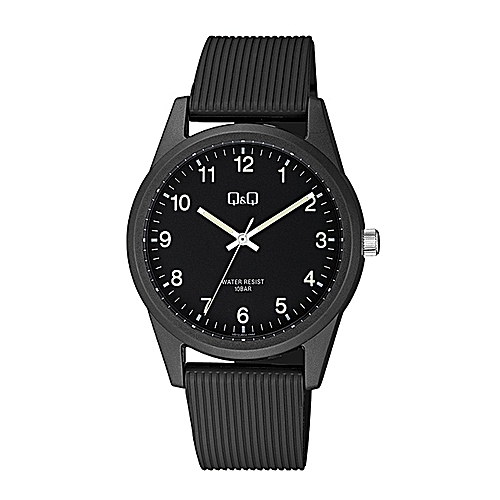 Unisex Casual Wear Rubber Strap Solar Powered Watch - VS12J002Y - Black