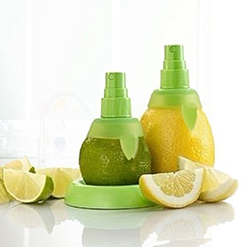 2pcs Manual Juice Spray Lemon Juicer Set-Green
