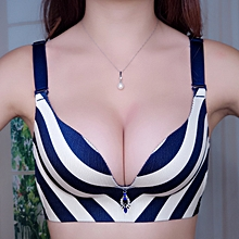 2f5cec6798cab Stripe Push-Up Bra Simplicit Stylish Sexy Bras(Blue+White)