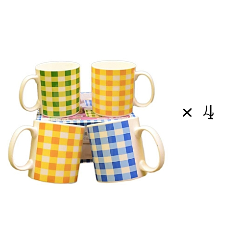 4 Pcs Ceramic Mug Cup