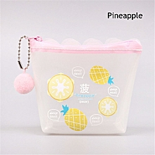 Cute Kids Girl PVC Unicorn Coin Purse Fruit Print Transparent Wallet Keys Pouch Card Holder Earphone Package Bag Women Handbag, used for sale  Nigeria