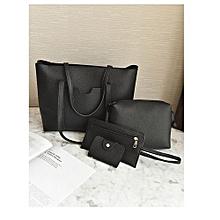 b2c41d026664 4 Sets Woman Handbag -Black