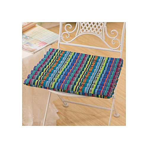 40 X 40cm Flower Seat Cushion Buttocks Chair Cushion Soft Linen Outdoor Square Cotton Pad Decoration