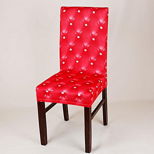 Removable Stretch Spandex Chair Cover Slipcovers Dining Wedding Banquet Decor # Red(